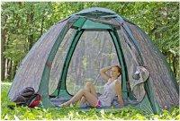Используйте палатки и шатры с москитной сеткой