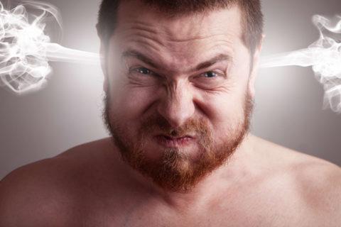 Вспышки гнева – один из признаков хронической токсической энцефалопатии