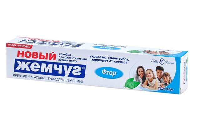 Зубная паста Новый Жемчуг Фтор подходит для чувствительных зубов