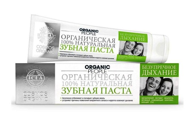 натуральная Зубная паста Organic People «Безупречное дыхание»