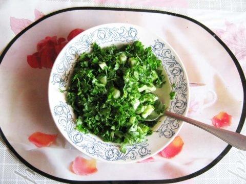 Витаминизированный салат для очищения лимфы