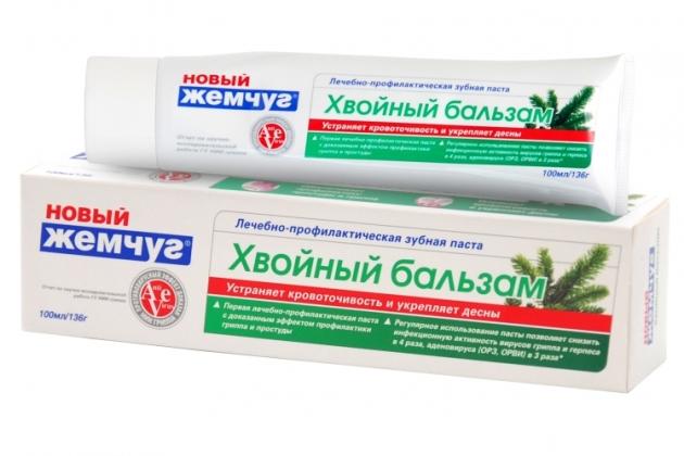 зубная паста новый жемчуг Хвойный бальзам