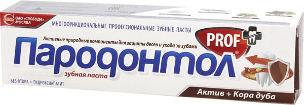 зубная паста пародонтол PROF актив+кора дуба
