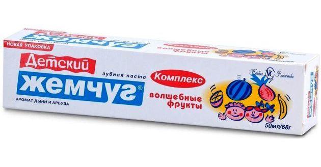 зубная паста новый жемчуг Волшебные фрукты