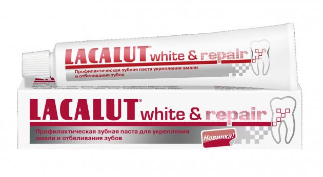 Отбеливающая паста Lacalut White and Repair