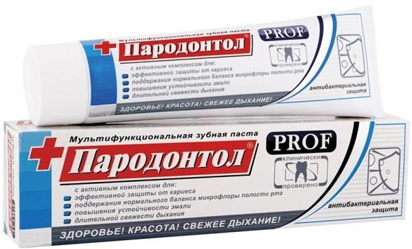 зубная паста пародонтол PROF антибактериальная защита