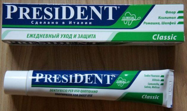 Зубная паста Президент Классик