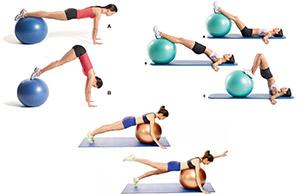 Асаны йоги с фитболом