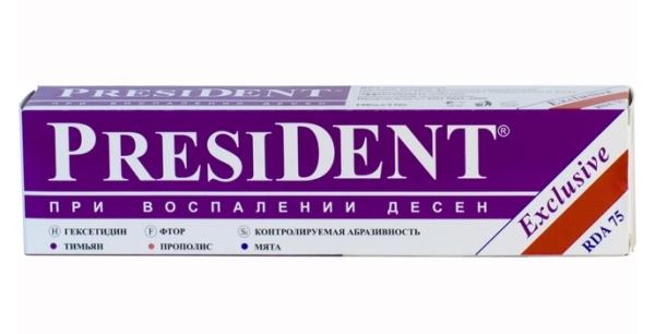 паста от пародонтоза Президент эксклюзив