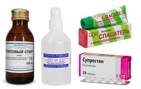 Препараты, помогающие устранить негативную симптоматику после контакта с насекомыми