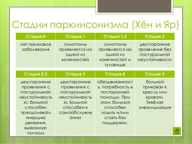 Классификация по Хен-Яру