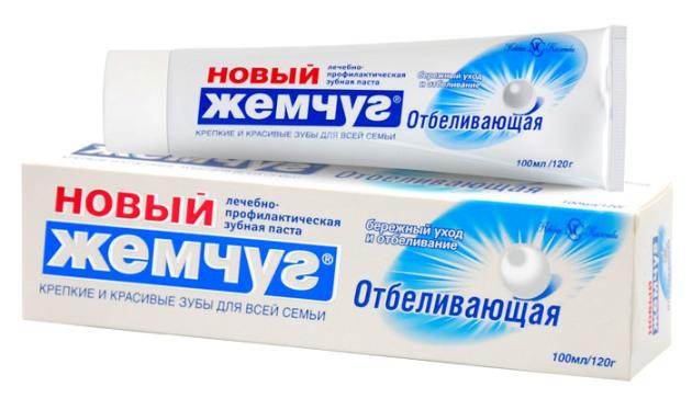 зубная паста новый жемчуг Отбеливающая
