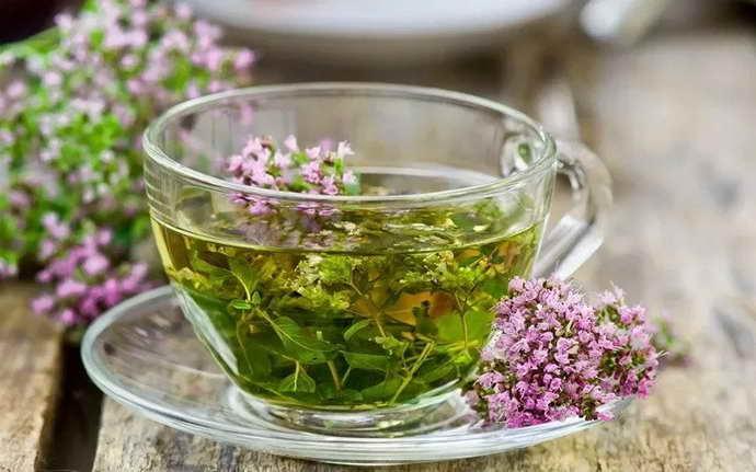 Настой из шалфея и зеленого чая от флюса
