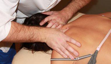 массаж в области шеи