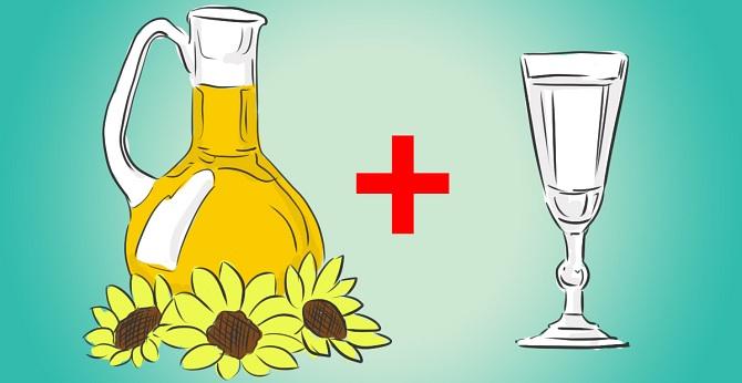 Водка и подсолнечное масло