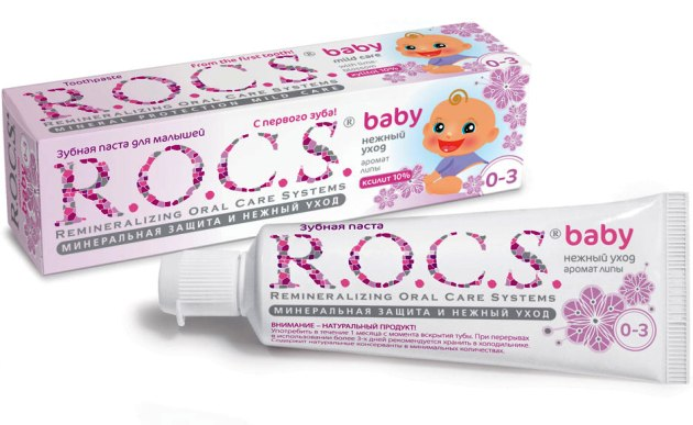 лечебная зубная паста ROCS-PRO Baby