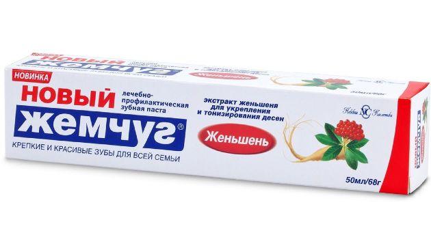 зубная паста новый жемчуг Женьшень