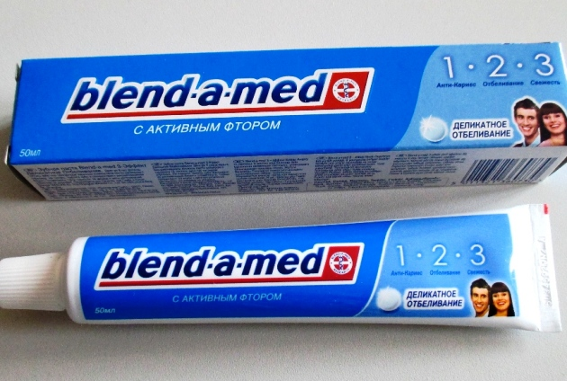 Зубная паста blend-a-med с активным фтором