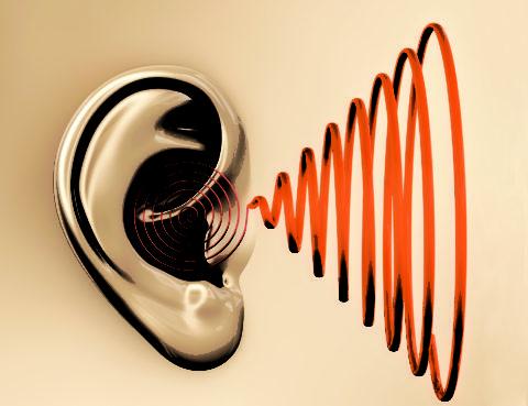 На фото схематичное изображение шума в ушах – одного из диагностических признаков