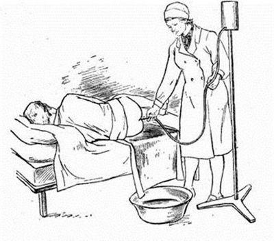 Очистка кишечника, если не наблюдается диарея