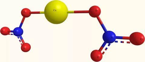 Модель молекулы нитросодержащего соединения