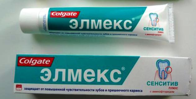 зубная паста для десен «Колгейт Элмекс»