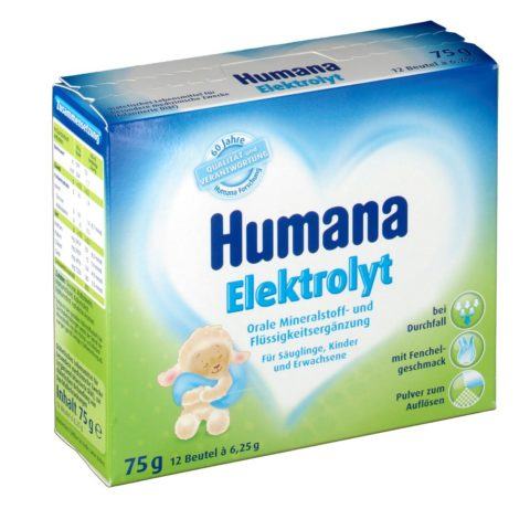 Humana - импортный аналог Регидрона для детей, выпускается с разными вкусами.