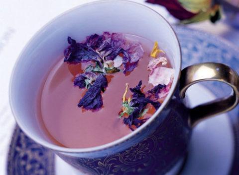 Фиолетовый чай.