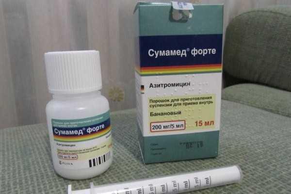 антибиотик сумамед при стоматите