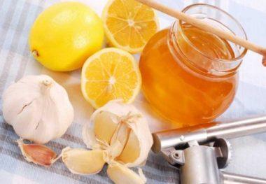 Мед лимон и чеснок
