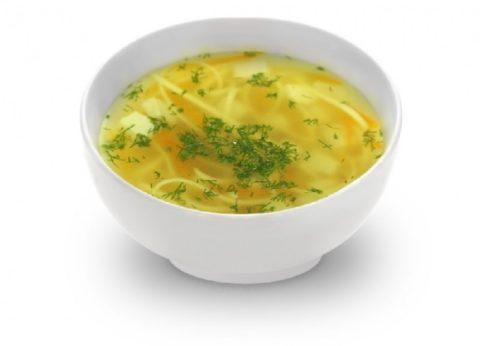 Следует исключить из меню наваристые супы и бульоны.