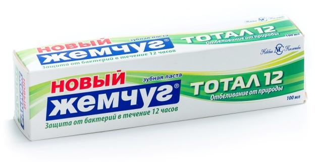 зубная паста новый жемчуг Тотал 12