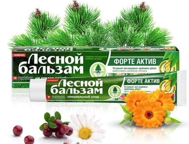 лечебная зубная паста Лесной бальзам