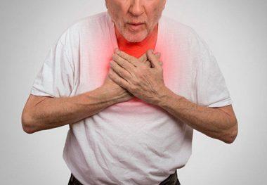 Приступ в груди