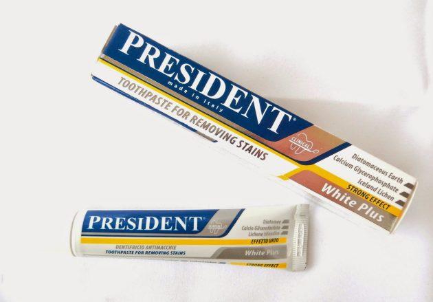 Отбеливающая паста President White Plus