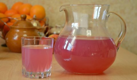 Кисель, приготовленный из свежих ягод