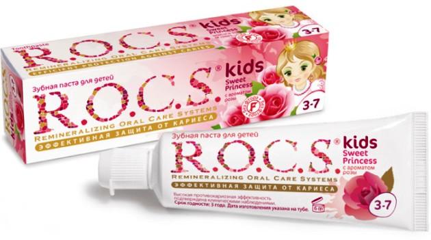 зубная паста ROCS kids