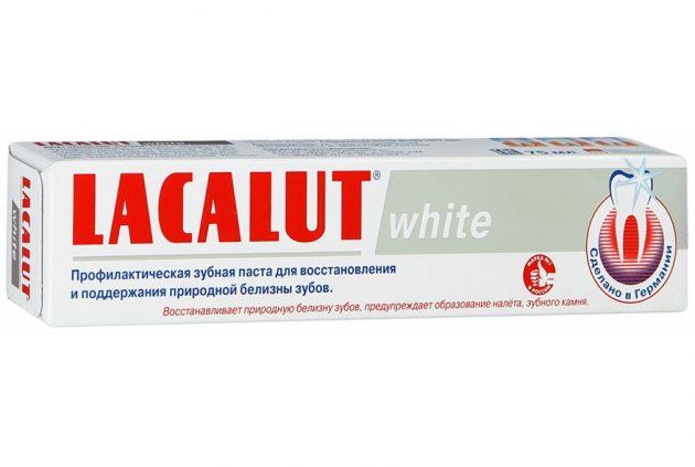 Отбеливающая паста Lacalut White