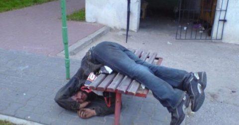 Пьяный человек подвергается высокому риску получения травмы