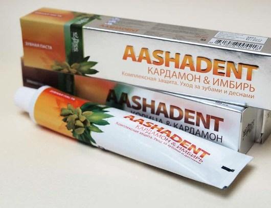 натуральная зубная паста Ашадент